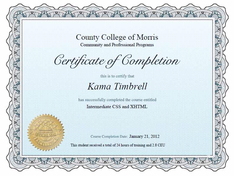 Online Certification June 2015