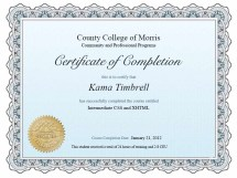 Image of CSS/XHTML Intermedia Class Certificate