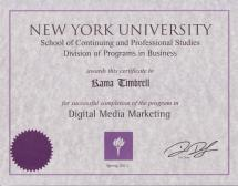 Image of Certificate in Digital Media Marketing for Kama Timbrell